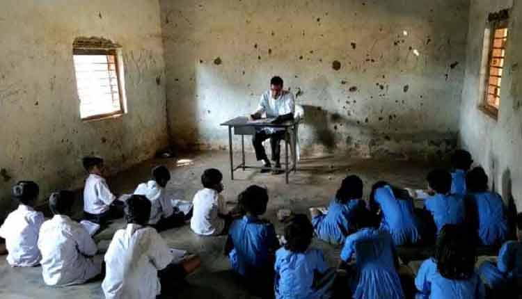 students are studying inside school