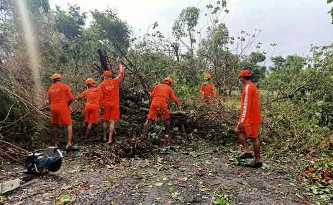 Cyclone relief work