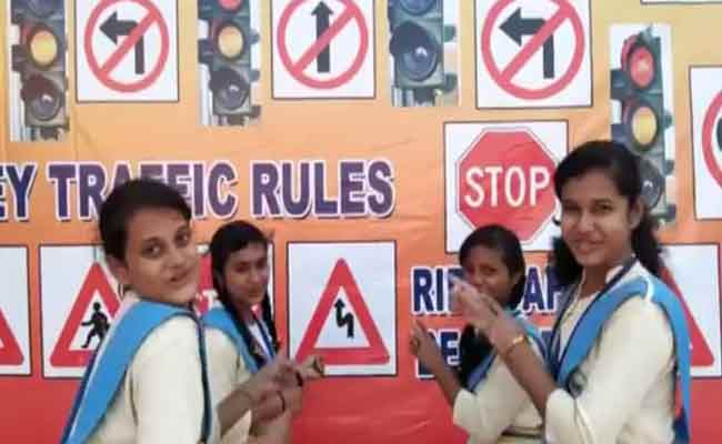road safty awareness by students