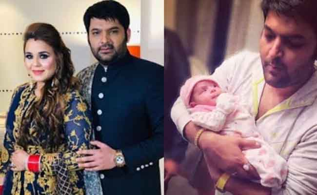 Kapil sharma with his wife & son