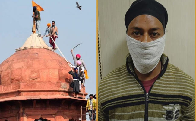 Red fort Violence Accused Arrested