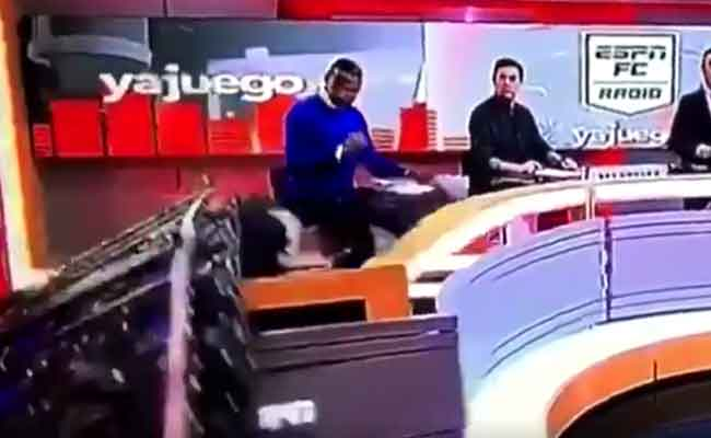 Part Of TV Set Collapses