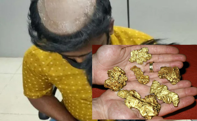 smuggling gold under wigs