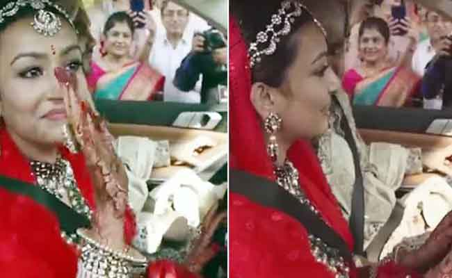 Bride on driver seat