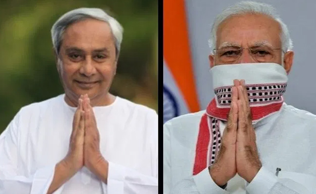 CM Naveen patnaik and PM Narendra Modi