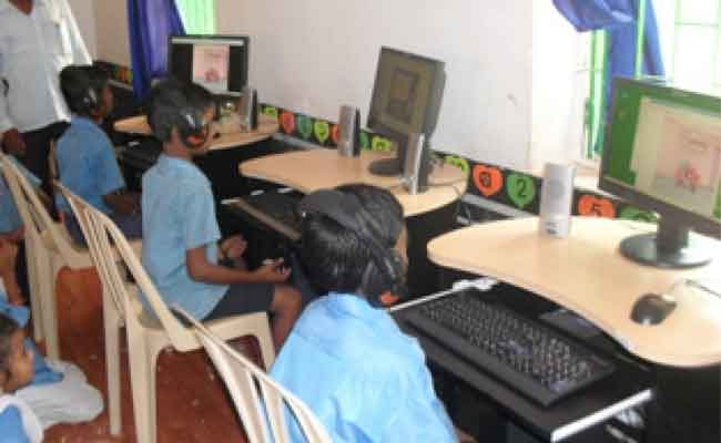 Children Learning Computer